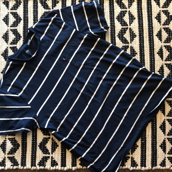 Levi's Other - Levi's Short Sleeve Shirt Striped with Pocket